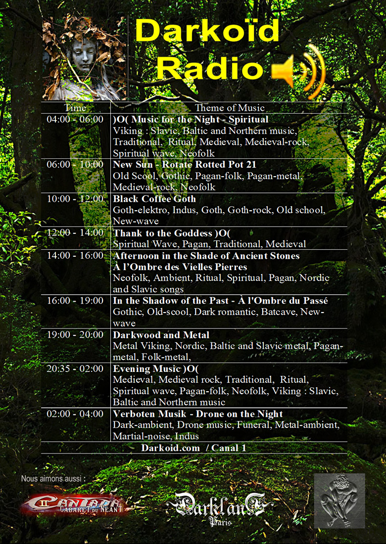 Darkoïd Radio Programme flyer 2018