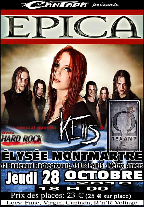Epica en Concert Paris